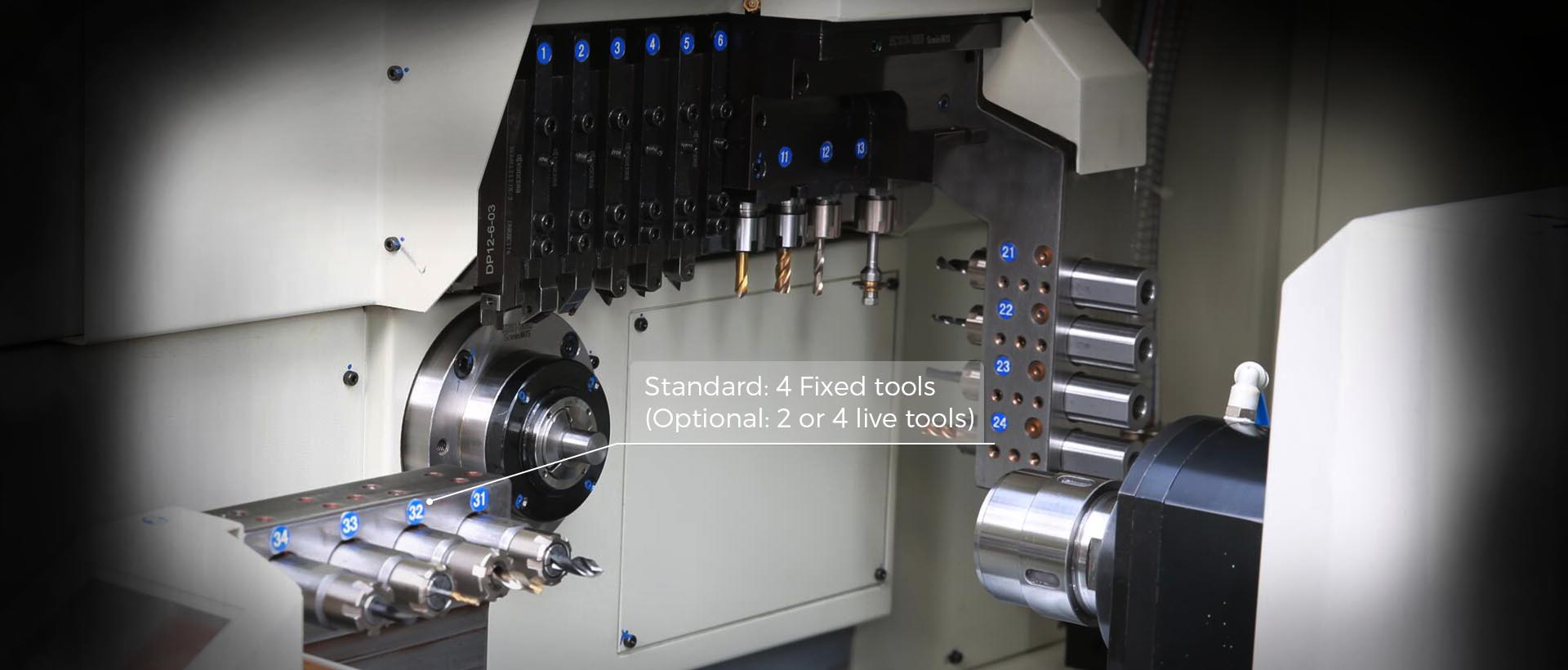 5 axis, dual spindles